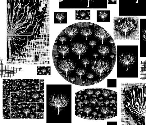 Wallpaper Agapanthus fabric by maryartdecor&design on Spoonflower - custom fabric
