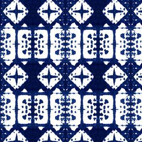 Shibori Windows - Indigo Blue