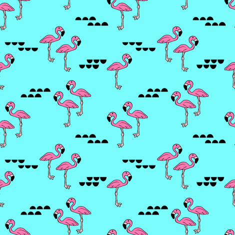 Flamingos // bright fabric by littlearrowdesign on Spoonflower - custom fabric