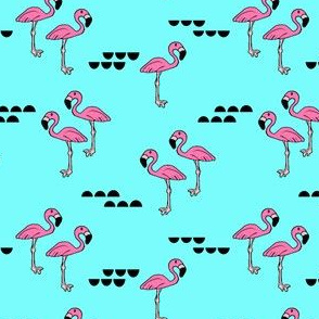 Flamingos // bright