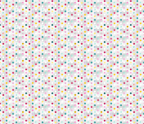 Watercolour Spots - Pastel Rainbow fabric by pinky_wittingslow on Spoonflower - custom fabric