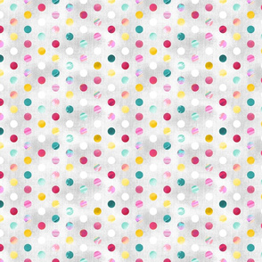 Watercolour Spots - Pastel Rainbow
