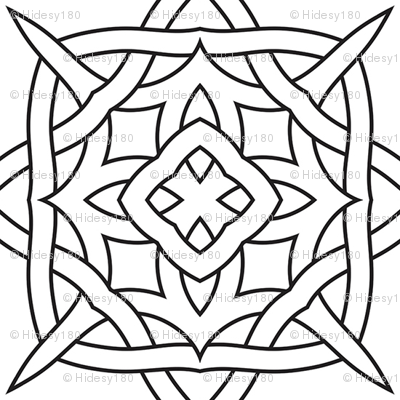 Color Me Celtic Squares Black And White Coloring In