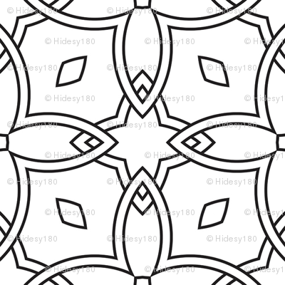 Stained Glass Window to Color Black and White Coloring In