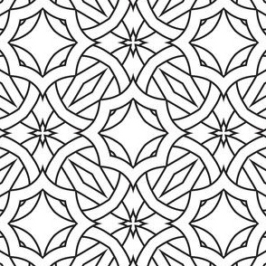 Color Me Kaleidoscope Pattern  Black and White Coloring In