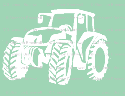 Tractors Sage/white