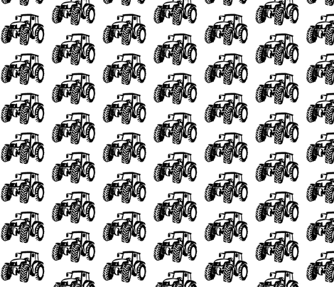 Tractors white/black fabric by babyitspersonal on Spoonflower - custom fabric