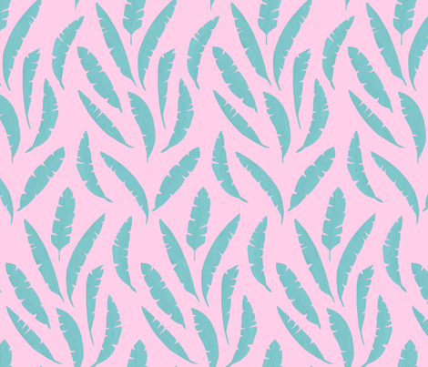 Tropical Leaves fabric by mayabeeillustrations on Spoonflower - custom fabric