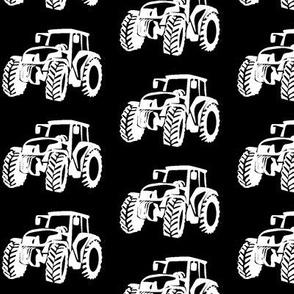 Tractors white/black