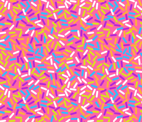 Pink Doughnut Glaze fabric by yopixart on Spoonflower - custom fabric