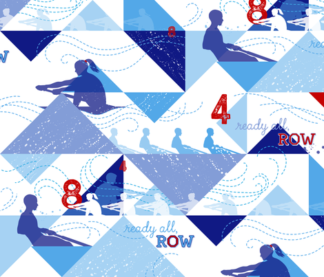 Ready All, Row fabric by hootenannit on Spoonflower - custom fabric