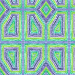 Blue-and-green Mosaic by Sara Aurora Waters