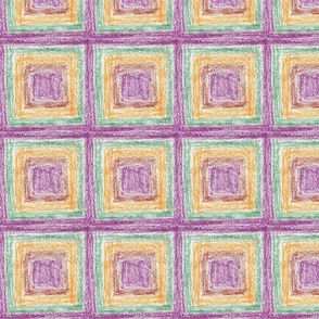 Purple-and-brown Square-in-a-box by Sara Aurora Waters