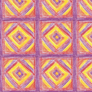 Red-and-purple Square-in-a-box by Sara Aurora Waters