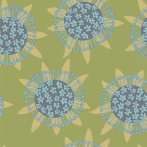 Sea flowers - green