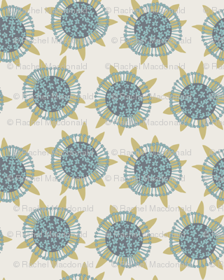 Sea flowers - cream