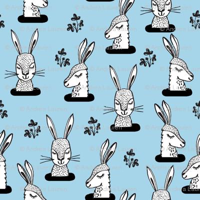 rabbit // bunny burrow sweet soft blue bunny rabbits larger scale