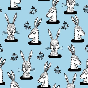 rabbit // bunny burrow sweet soft blue bunny rabbits larger scale
