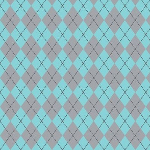 Gym Argyle (Blue/Gray)