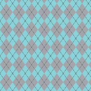 Gym Argyle (Blue/Gray)
