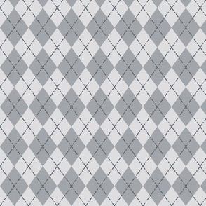 Gym Argyle (Tonal Gray)