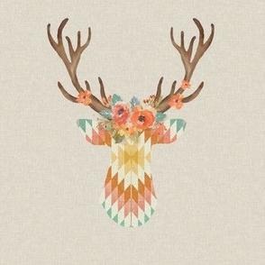 Floral Kilim Deer in Starburst