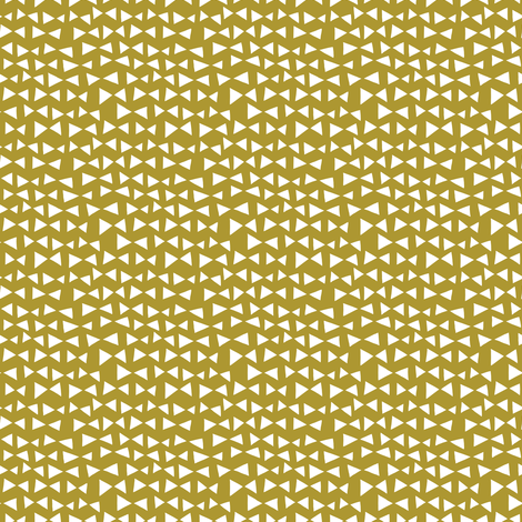 bow tri // golden olive mustard yellow triangles tri bow  fabric by andrea_lauren on Spoonflower - custom fabric