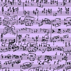 Hand Written Sheet Music on Lavender // Small
