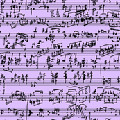 Hand Written Sheet Music // Lavender