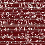 Hand Written Sheet Music // Burgundy
