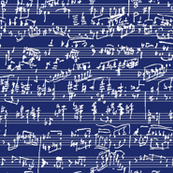 Hand Written Sheet Music // Dark Blue