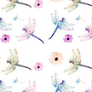 Pastel Floral Dragonfly