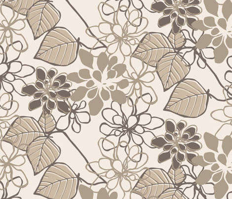 Floral Leaves fabric by holly_helgeson on Spoonflower - custom fabric