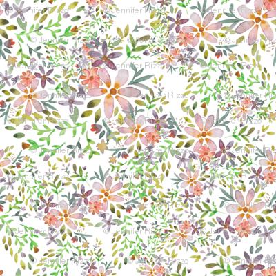 Blooming garden watercolor flower