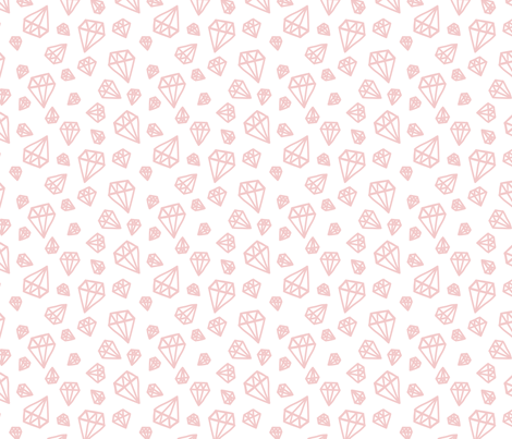 Pink diamond pattern fabric by ollysweatshirt on Spoonflower - custom fabric