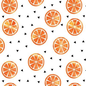 Watercolor Oranges // triangles