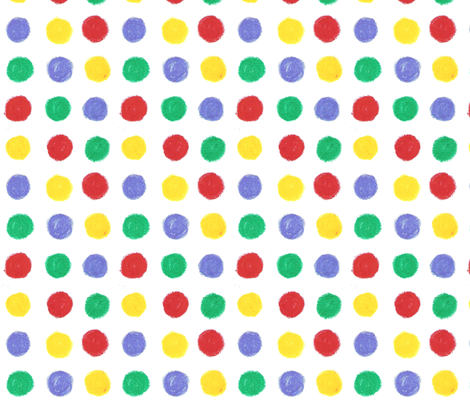Yellow, red, blue and green Dots by Sara Aurora Waters fabric by sara-aurora-waters on Spoonflower - custom fabric