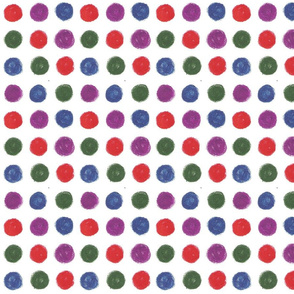 Blue and purple Dots by Sara Aurora Waters