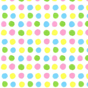 Pink and yellow Dots by Sara Aurora Waters