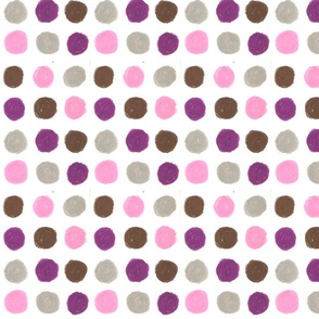 Purple and pink Dots by Sara Aurora Waters