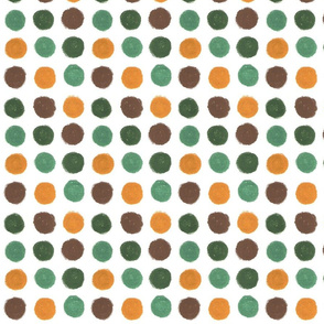 Brown and green Dots by Sara Aurora Waters