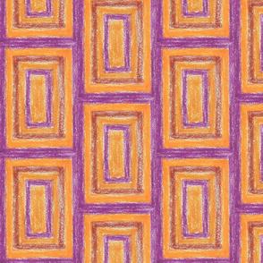 Purple and orange Squares by Sara Aurora Waters