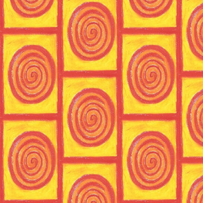 Yellow and red Squares by Sara Aurora Waters