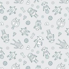 robots grey color