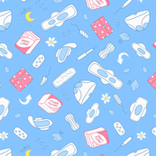 sanitary napkin pattern blue