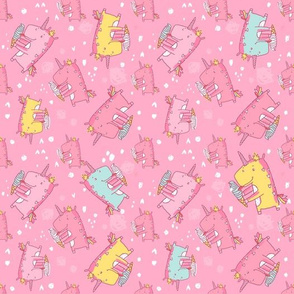unicorn icecream_pattern-pink