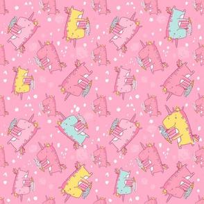 unicorn icecream_pattern-pink