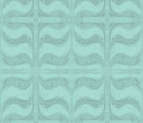 Turquoise Wave by Sara Aurora Waters fabric by sara-aurora-waters on Spoonflower - custom fabric