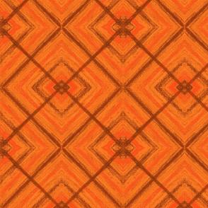 Big  orange Square by Sara Aurora Waters