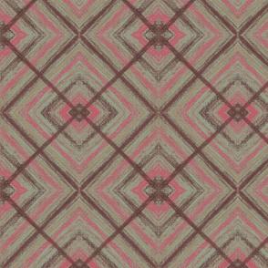 Big brown and pink Square by Sara Aurora Waters